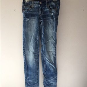 American Eagle faded skinny jeans